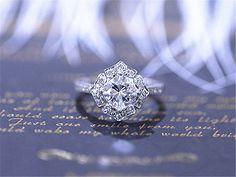 65 mm Charles & Colvard amortiguador cortan Moissanite anillo