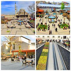 Eminönü Meydanı yeniden düzenlendi.  Alana oturma grupları, kafeterya, yer altı wc ve havuzlar eklendi.  #ibb pic.twitter.com/OkzgQJJAhJ