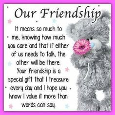 24 ideas quotes birthday wishes friends tatty teddy for 2019 Best Friendship Quotes, Friend Friendship, Bff Quotes, Cute Quotes, Funny Friendship, Missing You Friendship, Friendship Birthday Quotes, Friendship Cards, Qoutes
