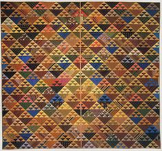 Quilt attributed to the years 1830-1860,  made by Deborah Coates, Pennsylvania.