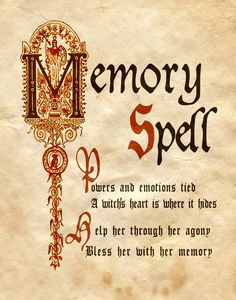 "Book of Shadows: ""Memory Spell,"" by Charmed-BOS, at deviantART."