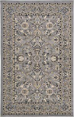 Gray 5' x 8' Kashan Design Rug | Area Rugs | eSaleRugs