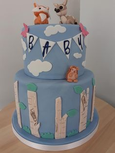 Woodland Baby, Baby Shower Cakes, Desserts, Daily Inspiration, Cake Decorating, Vanilla, Food, Ideas, Meal
