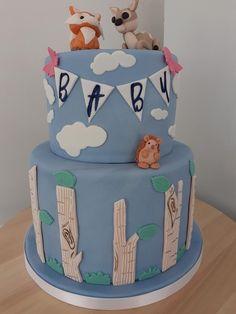 Woodland Baby, Baby Shower Cakes, Cake Decorating, Vanilla, Desserts, Daily Inspiration, Food, Ideas, Cakes Baby Showers
