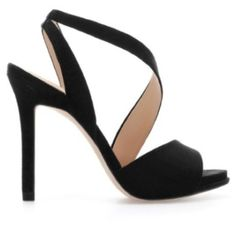 Zara Strappy Heels In Black Strappy Sandals, Black Sandals, Women's Shoes Sandals, Women Sandals, Black Stilettos, Zara Heels, Suede Heels, Brian Atwood, Fashion Heels
