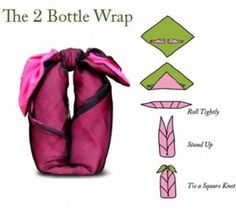 fast & easy wine bottle wrap | wrapping ideas