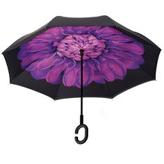 Double Layer Inverted Inverted Umbrella Is Light And Sturdy Japanese Pattern Ornament Traditional Reverse Umbrella And Windproof Umbrella Edge Night