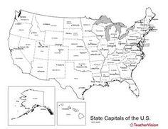 printable usa states capitals map names | states | Pinterest ...