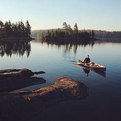 sanborncanoecompany: Canoe on still waters = perfect morning. Photo by @scottdhunt #ScoutForth folks. #sanborncanoe #canoeview