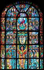 Church window in Wuerselen, Germany