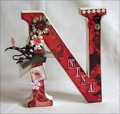 Buchstabe / Letter - N - Nina
