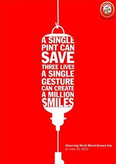 blood donation poster (typography)