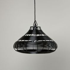 Shop Aviary Pendant Lamp (Black).  Our Aviary Pendant Lamp features a rounded wire design that gives your light bulbs ample room to spread their wings.  The adjustable hanging cord lets you find the perfect height.