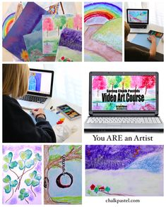 Spring Chalk Pastels Video Art Course, a great way for homesschoolers to learn art at home or at a homeschool co-op. Homeschool High School, Homeschool Curriculum, Homeschooling, Art Courses, Learn Art, Spring Art, Choose Joy, Chalk Pastels, Art Lessons