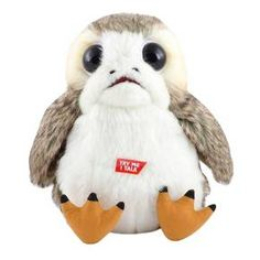 Porgs are those small, loveable, avians that flock around Luke Skywalker's secluded island in Star Wars: The Last Jedi. Take your own Porg home today.