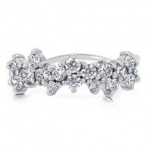 Sterling Silver Ring Cubic Zirconia CZ Fashion Right Hand Ring