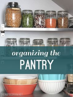 She has great ideas for small spaces! Organize Pantry