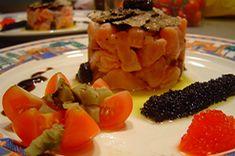 Tartare de saumon à la truffe noire