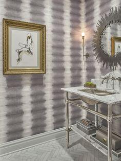 Luxury Bathrooms invites you to read A Bold Bathroom Interior Design By Designer Elizabeth Krueger. Elegant Home Decor, Elegant Homes, Luxury Interior Design, Bathroom Interior Design, Bad, Furniture, Powder Rooms, Chicago, Bathroom Ideas