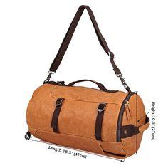 Convertible Backpack Shoulder bag Handmade Leather Backpack Crossbody bag For Men 2033 Soft Leather Handbags, Leather Purses, Leather School Bag, Mens Travel, Convertible Backpack, Messenger Bag Men, Leather Bags Handmade, Cow Leather, Real Leather