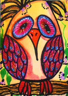 Owl Puzzled By Twirps,