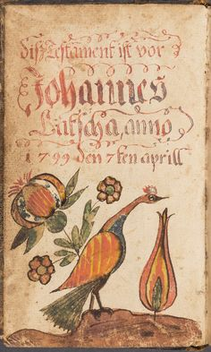 Works on Paper - Fraktur (Bookplate) - Search the Collection - Winterthur Museum