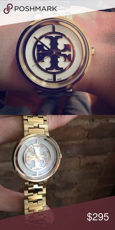 Tory Burch Reva Watch Art Deco Inspired, Swiss Made, stainless steel watch. Tory Burch Accessories Watches