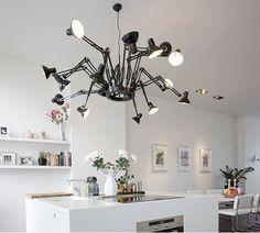 urbnite — Dear Ingo Chandelier by Moooi Marcel, Spider Lamp, Task Lamps, Decoration Originale, Contemporary Chandelier, Interior Decorating, Interior Design, Room Lights, Home Decor Kitchen