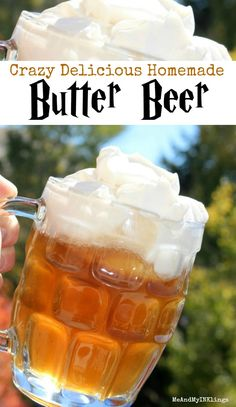 Butter Beer Recipe for Harry Potter Parties and Gatherings #butterbeerrecipe #butterbeer #HarryPotter