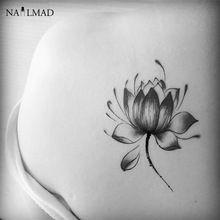 2 unids loto negro temporal a prueba de agua de flor tatuaje pasta tatuaje tatuajes Body Art tatuaje de Henna pegatinas X088(China (Mainland))