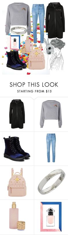 """Hare's Mask 🐰🌈"" by karilooks ❤ liked on Polyvore featuring Herno, RE/DONE, MCM, Hermès, Houbigant and House of Fraser"