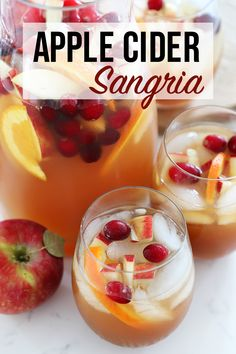 This Apple Cider Sangria is everyone's favorite Fall cocktail! The perfect sangria for a fall celebration. The combination of white wine, apple cider, salted caramel vodka, cinnamon and fresh seasonal fruit will get you in the mood for Fall. #FallCocktail #Sangria #AppleCiderSangria #Thanksgiving #AppleCocktail Apple Cider Sangria, Cider Cocktails, Fall Cocktails, Fall Sangria, Sangria Fruit, Apple Cocktails, Caramel Apple Sangria, White Wine Sangria, Fall Drinks