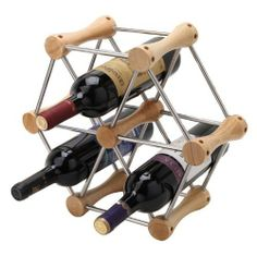 DIY Changeable Stainless Steel Wine Rack - Wooden by Lovinghome. $35.85. Wine Bottle Holder. Elegant. The perfect accessory for wine lovers.. DIY Changeable Stainless Steel Wine Rack - WoodenMaterial: 18/8 Stainless Steel Product includes: 7 joints & 24 stainless steel sticksYou can change any style as your pleases.