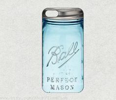 Ball Mason Jar for iphone 4s case iPhone 5c case iPhone 5s case iPhone 5 case iPhone 4 case samsung galaxy s4 case s5 case galaxy s3 case by TimeCase on Etsy