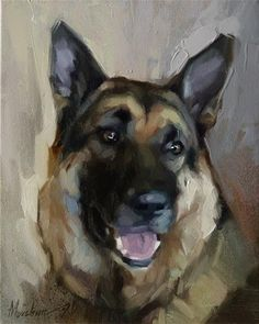 "Daily Paintworks - ""Zeke"" - Original Fine Art for Sale - © Oleksii Movchun Dog Portraits, Portrait Art, Painting Inspiration, Art Inspo, Horse Art, Fine Art Gallery, Animal Paintings, Cooker Dog, Slow Cooker"