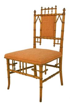 American RJ Horner Aesthetic Movement faux bamboo side chair. Circa 1880