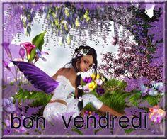 Bonne fin de semaine à toutes et à tous sur www.voyance-sincerite.com au 08.92.22.20.20, Ania Bon Weekend, Retro, Fantasy Art, Fairy, Elves, French Quotes, Cuban, Sweet Dreams, Angels
