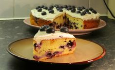 Blueberry Soured Cream Cake Recipe - Sliced