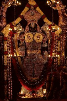 "Lord Venkateswara is a form of the Hindu God Maha Vishnu. Venkateswara literally means ""Lord of Venkata"". The word is a combination of the words Venkata (the name of a hill in Andhra Pradesh) and isvara (Lord)."