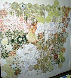 Quilt Pattern One Block Wonder Free . One Block Wonder, Panel Quilts, Quilt Blocks, Quilting Projects, Quilting Designs, Quilting Ideas, Millefiori Quilts, Cubes, Kaleidoscope Quilt