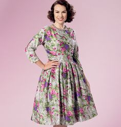 Fifties-style dress sewing pattern by Gertie for Butterick. B6284, Misses' Dress