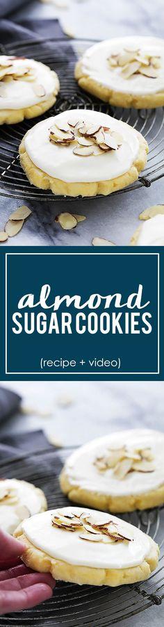 Almond Sugar Cookies (recipe + video tutorial) | Creme de la Crumb