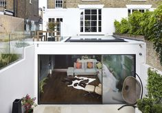 We are a leading firm of residential architects specialising in designing contemporary new homes and period renovations in London, Surrey and the South East Glass Extension, Roof Extension, Extension Ideas, London Living Room, Room London, Richmond London, Architects London, Basement Lighting, Residential Architect