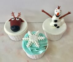 Cupcakes  Frozen Elsa Anna  Olaf