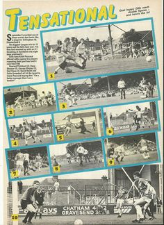 Gillingham 10 Chesterfield 0 in Sept 1987 at Priestfield Stadium. All the goals from the Division 3 rout.