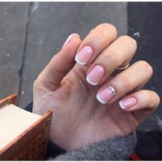 Beautiful French nails, Beautiful nails 2016, Classic french manicure, Delicate…