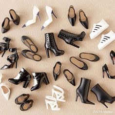 This could only mean one thingits #shoesday! Which are your faves?  #barbie #barbiestyle by barbiestyle