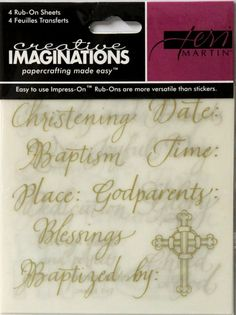 Creative Imaginations Teri Martin Blessed Day Rub-On Transfers