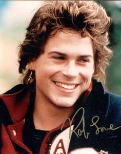 I met him at Chautauqua just after he did St. Elmo's (which was written about the Institute, actually)...  Rob Lowe 80s