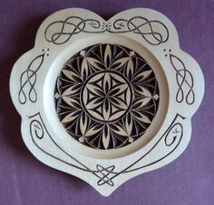 "8\\"" chip carved heart plate"